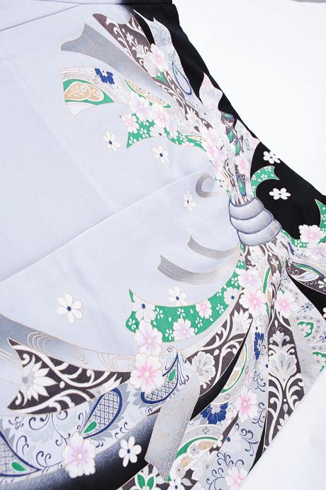レンタル着物:グレーのしめ桜詳細