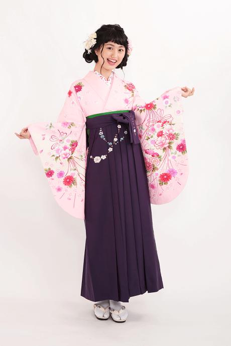 ピンク桜ブーケとムラサキ友チェーン桜のサムネイル