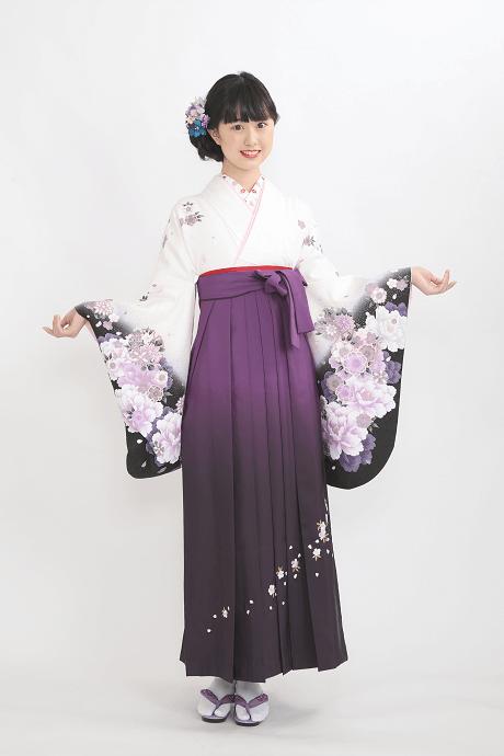 白地紫雪輪花とムラサキボカシシシュウのサムネイル