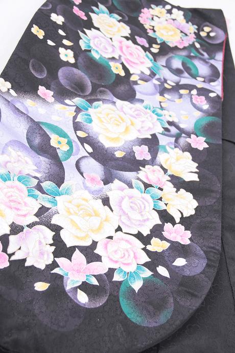 レンタル着物:黒しゃぼん詳細
