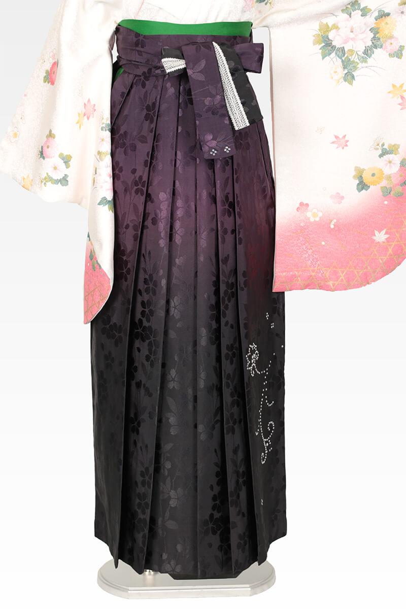 レンタル袴:ムラサキぼかしスワロ桜地