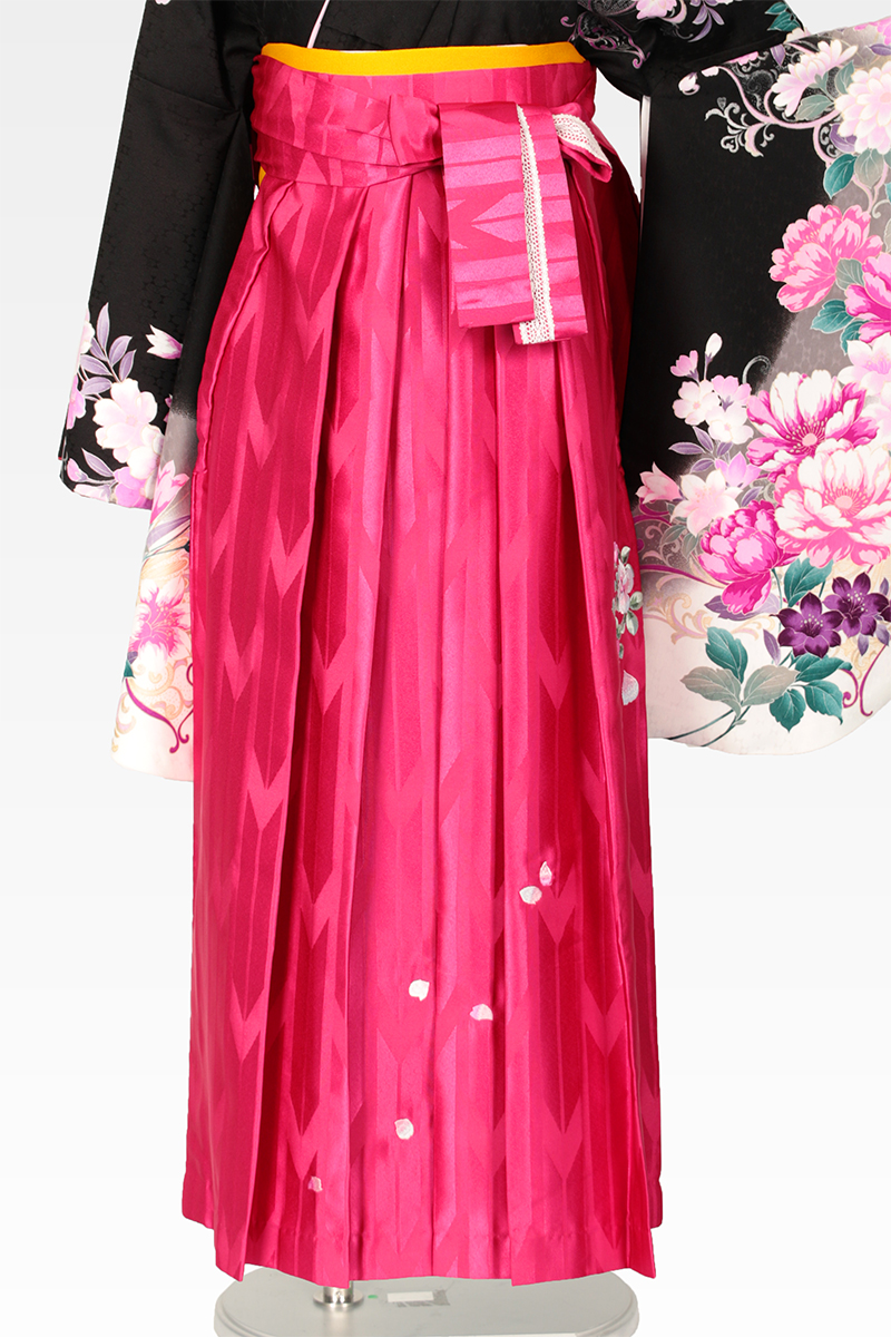 レンタル袴:ピンクバラ刺繍