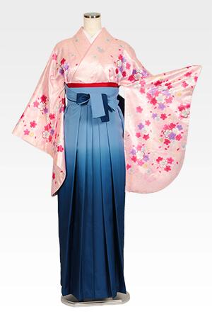 ピンクラメ小桜とブルーボカシ