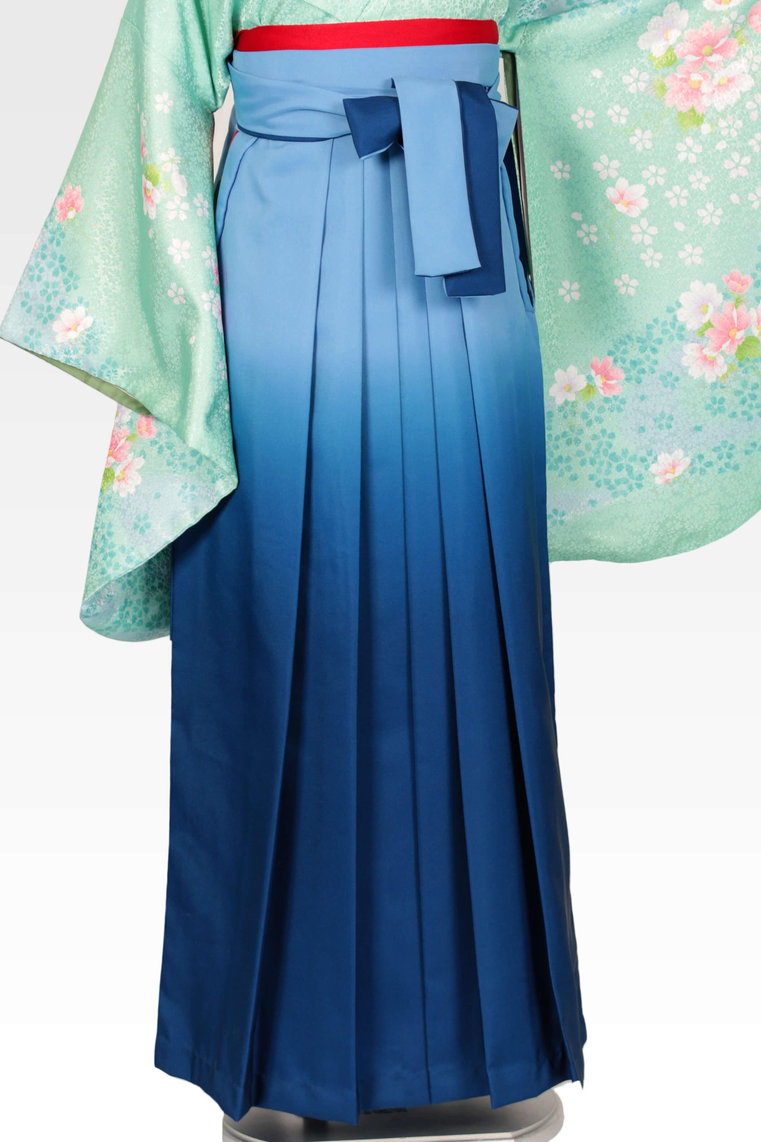 レンタル袴:ブルーボカシ