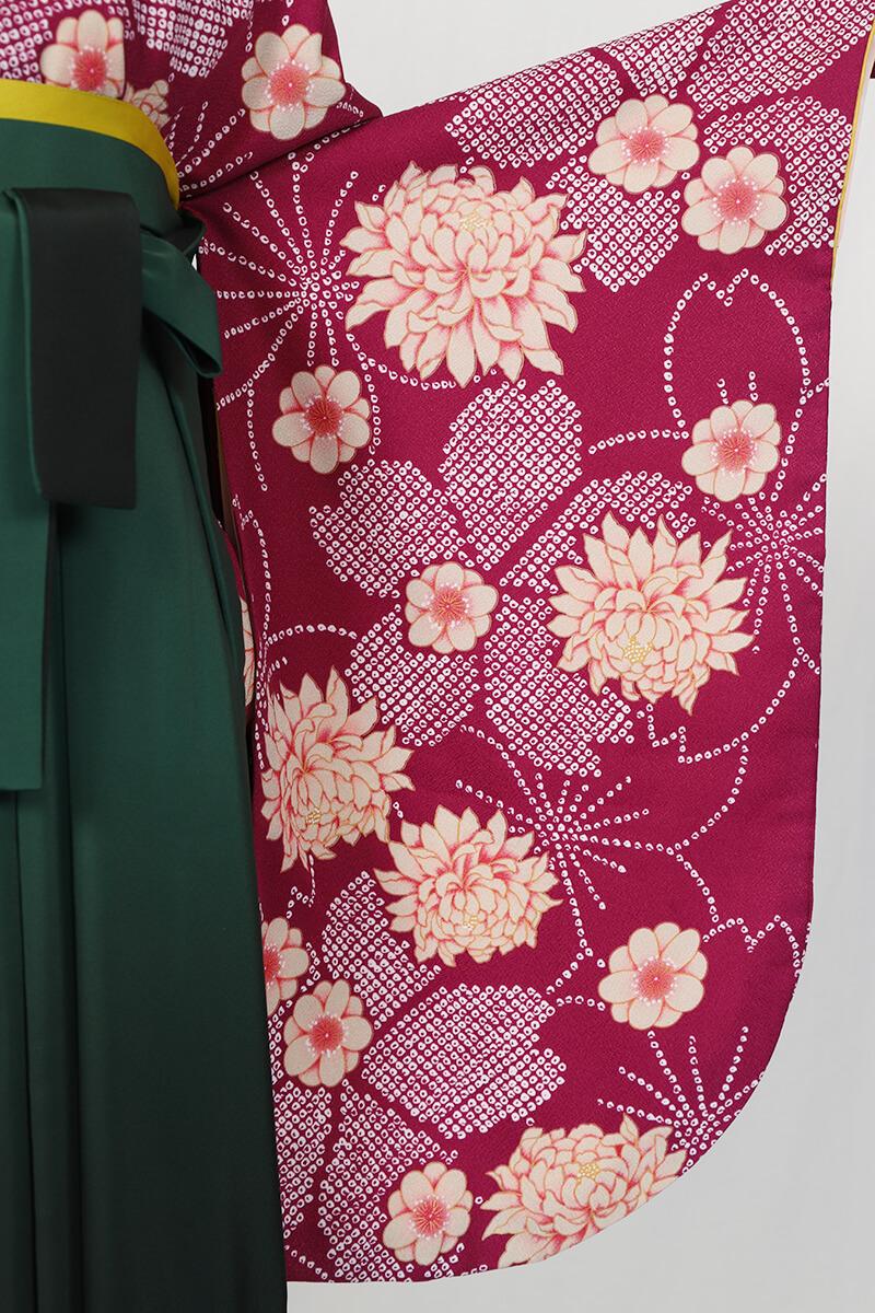 レンタル着物:ムラサキ疋田小紋の袖