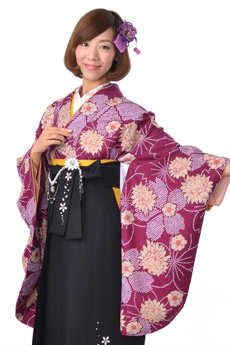 【着物】ムラサキ疋田小紋