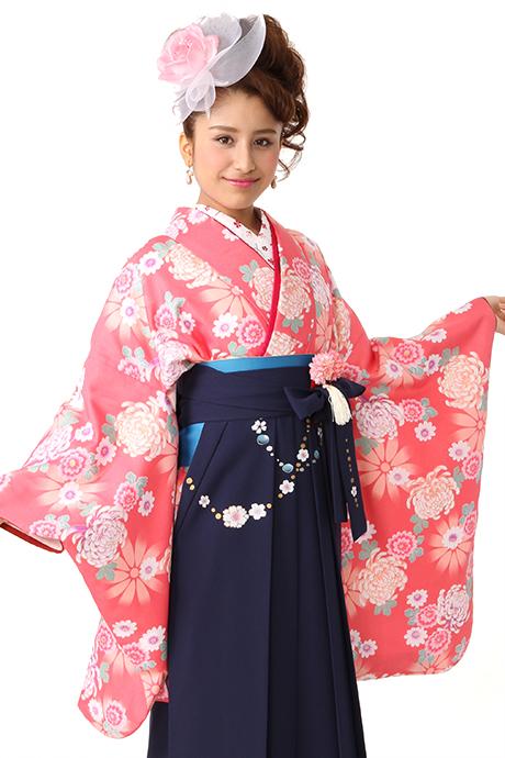 【着物】ローズピンク乱菊