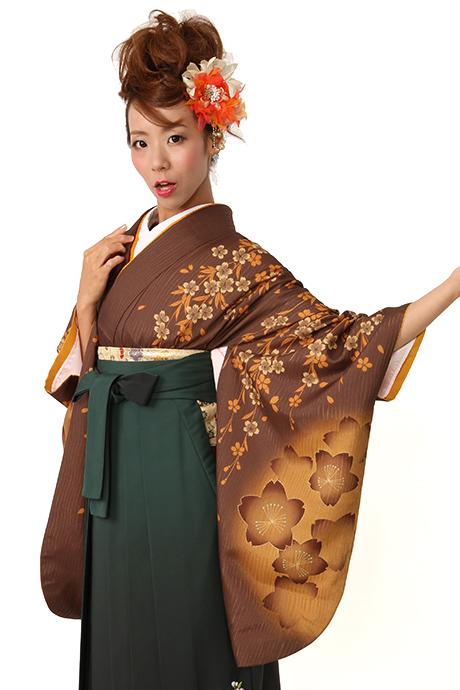 【着物】コゲチャシダレサクラ小袖