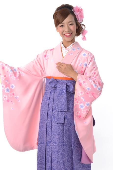 【着物】ピンクサクラ