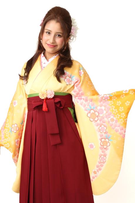 【着物】キとヤマブキサクラ小袖