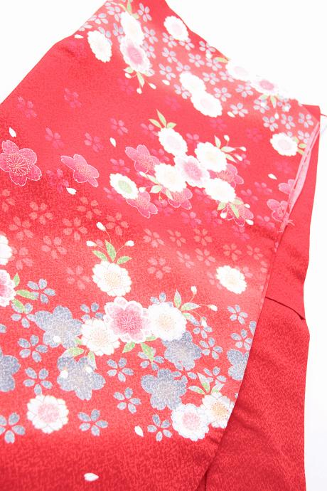 レンタル着物:赤地に朱袖小桜集詳細