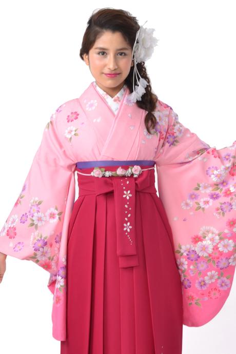 【着物】ピンク小花づくし