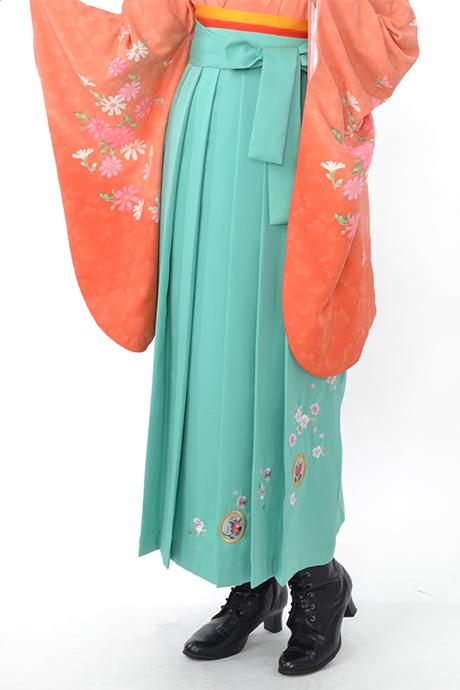【袴】ミントグリーン撫子に橘