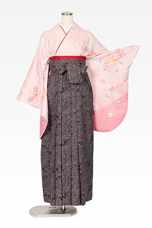 ピンクに重ねいろ桜と総柄黒のサムネイル