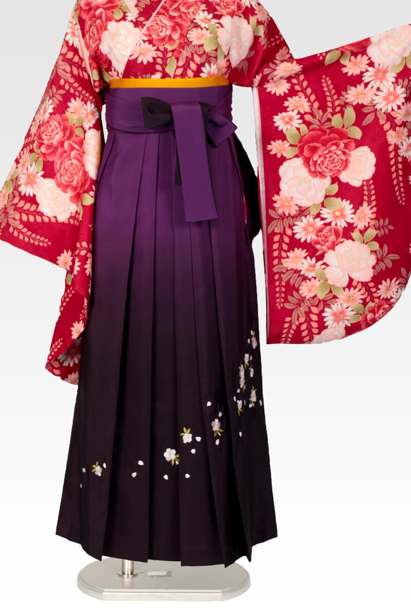 レンタル袴:ムラサキボカシ刺繍
