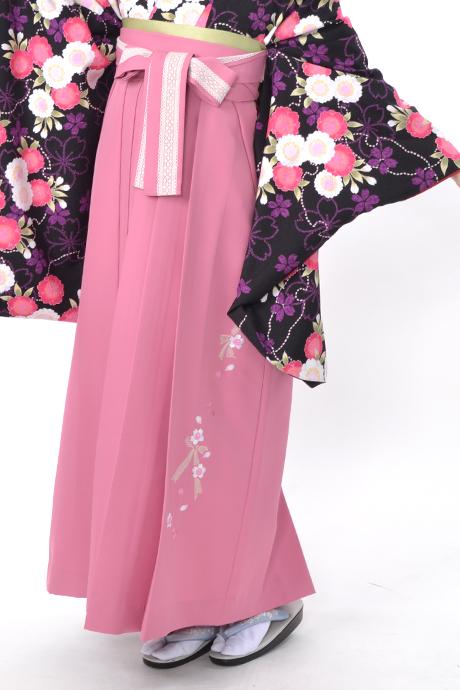 【袴】ピンクレースリボン