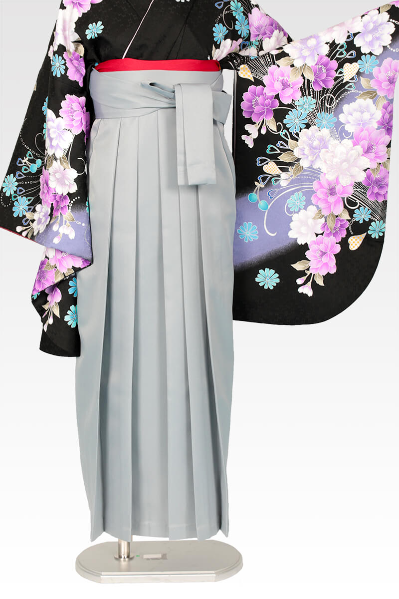 レンタル袴:ホワイトグレー