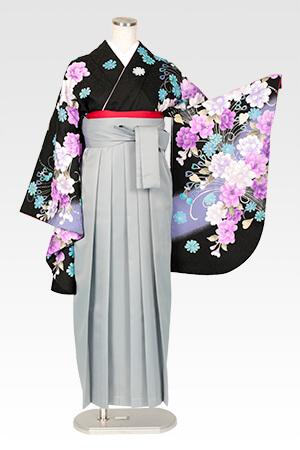 anan黒×紫牡丹流泉とホワイトグレー